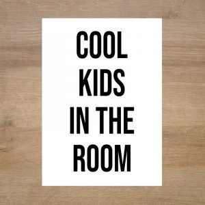 Lamina-poster-infantil-moderna-cool-kids-in-the-room-minimoi