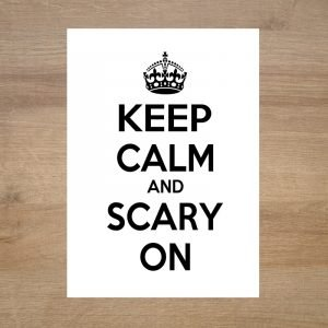 Poster-lamina-halloween-keep-calm-and-scary-on-minimoi