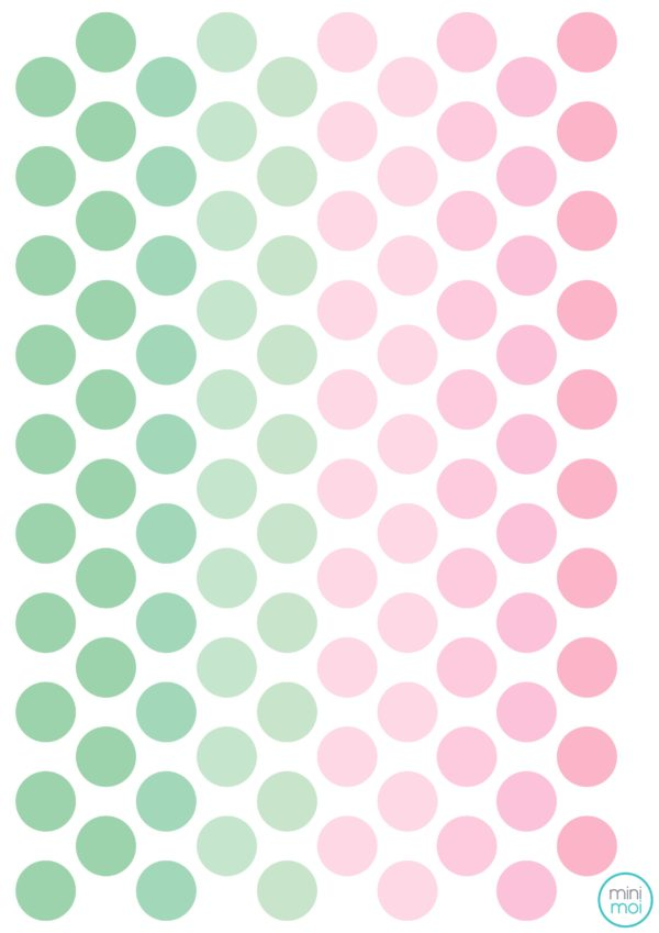 Sticker dots mint pink minimoi