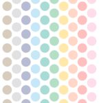 Sticker dots pastel colors minimoi