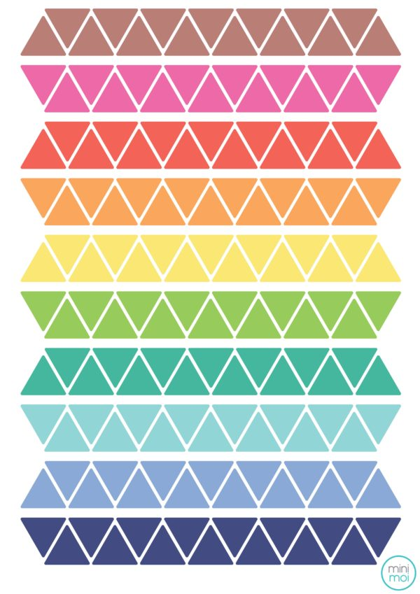 Triangles colors stickers minimoi
