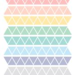 Triangles pastel colors stickers minimoi